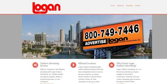 Wordpress Website for Outdoor Ad Agency