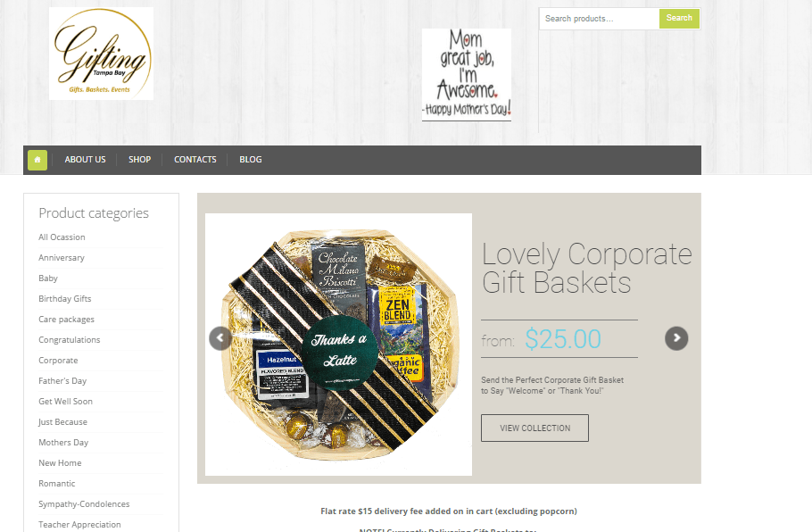 E Commerce Website Design Gifting Tampa Bay Tampa Florida Website Design