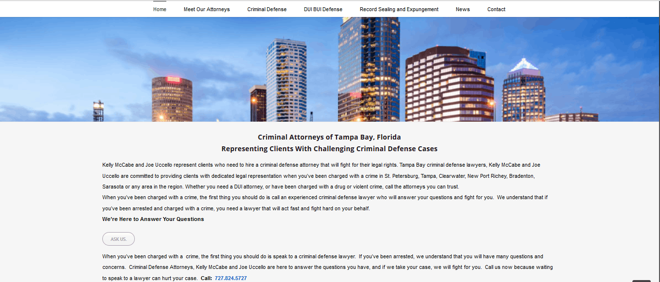 website design for criminal defense attorneys tampa st petersburg