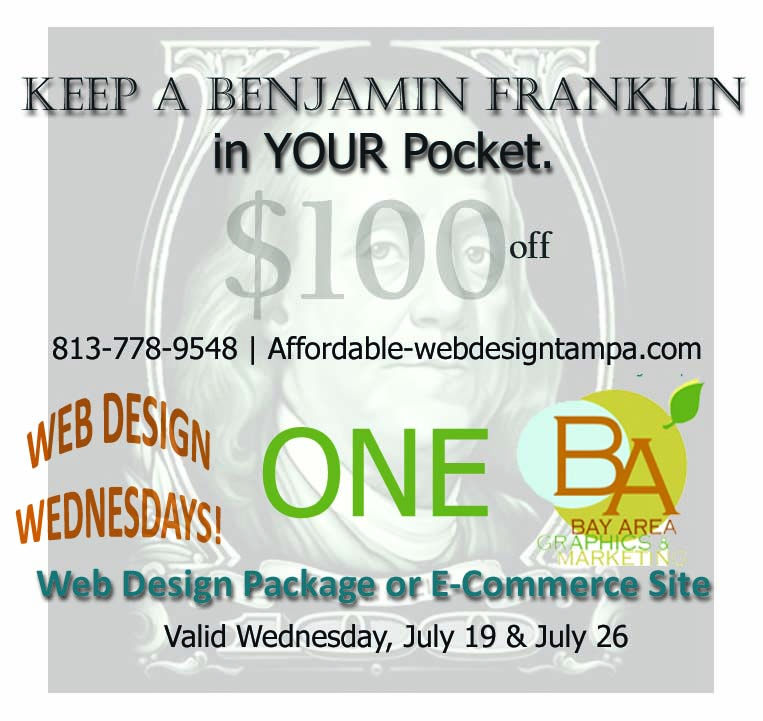 website design special offers Tampa, St. Petersburg, Clearwater FL